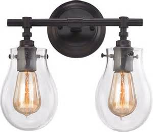 2 Light Bathroom Wall Sconce Elk 31931 2 Jaelyn Contemporary Rubbed Bronze 2 Light