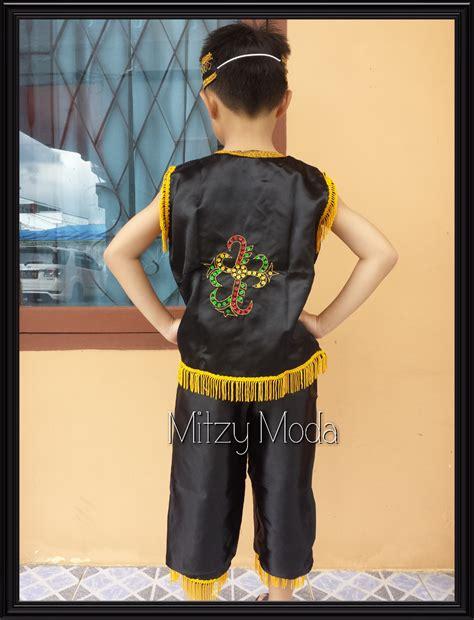 Baju Adat Kalimantan Anak Perempuan jual baju pakaian adat dayak kalimantan barat anak perempuan laki laki mitzy moda
