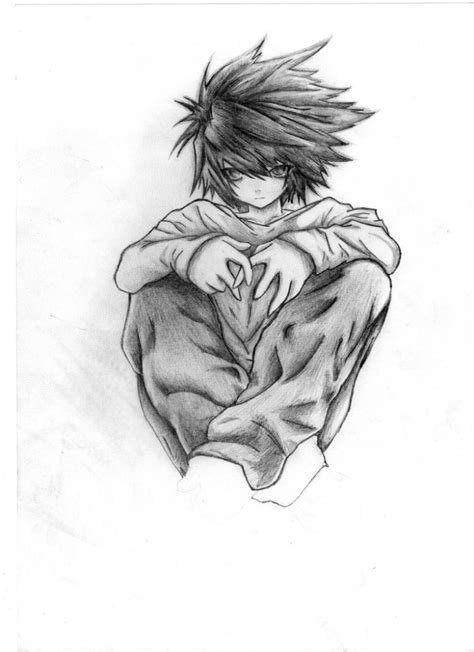 L Drawing Easy by Cool Anime Drawings Pencil Drawing