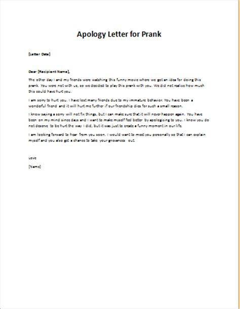 Apology Letter To For Not Caring Apology Letter To Friend For A Prank Writeletter2