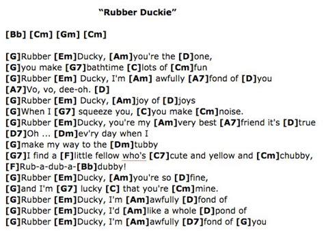 s day song h e a r t rubber duckie sesame ukulele chords ukulele for
