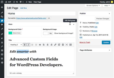 advanced layout editor wordpress plugin acf advanced custom fields plugin for wordpress