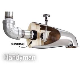 replace a bathtub how to replace a bathtub spout family handyman