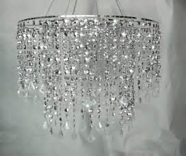 Diy Bubble Chandelier Large Silver Diamond Cut Beaded Chandelier Wedding Decor
