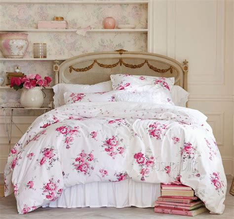 shabby chic bed linens bedding with roses for a shabby chic home decorating trends homedit