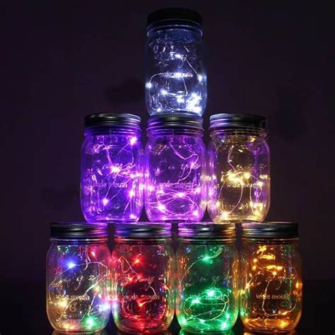 waterproof glass jar led cooper string light l40cm fairy