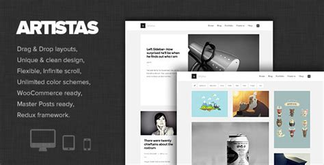 modern design blog artistas modern portfolio blog theme designbeep