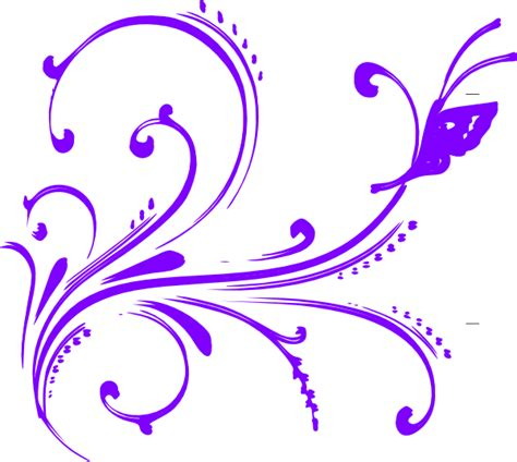 animated purple butterfly clip art