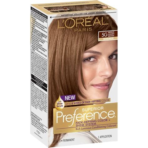 loreal superior preference hair color loreal superior preference fade defying 6r light auburn
