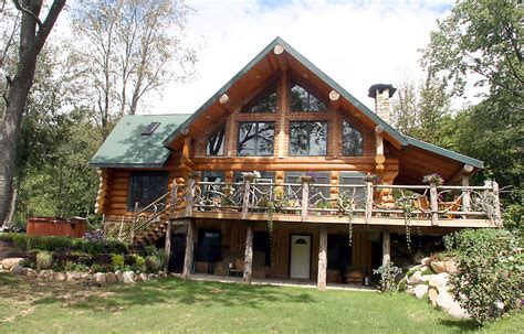 Log Cabin Home Plans Square Log Home Designs Find House Plans