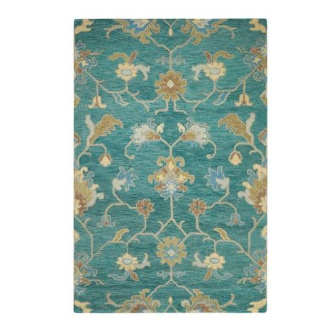 teal area rug home depot home decorators collection montpellier teal 2 ft x 3 ft area rug 1997600330 the home depot