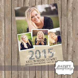 graduation announcement single sided up to 4 pictures