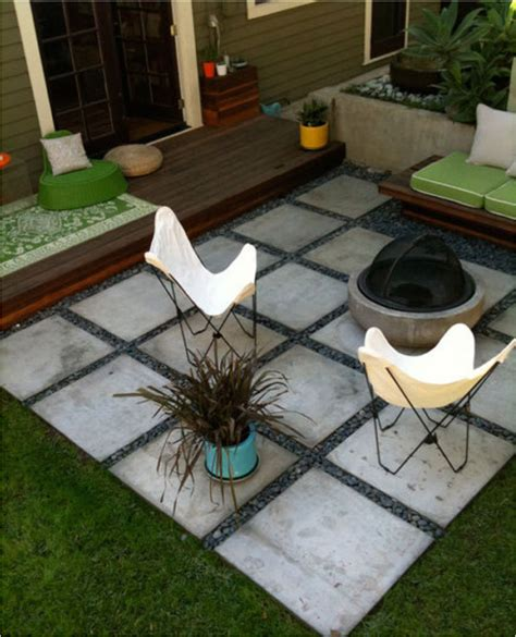 Patio Ideas With Square Pavers Square Paver Patio Garden Yard
