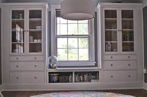 Dining Room Cabinets Ikea Ikea Hemnes Hack Dining Room Built Ins Using Hemnes Cabinets And Extension As Window