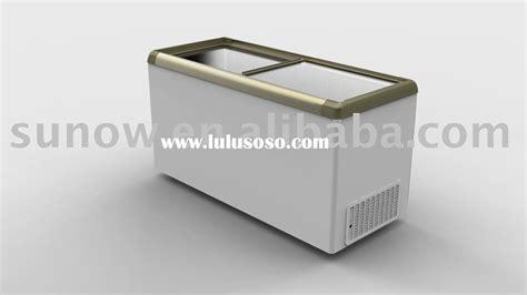 Freezer Box Sliding sliding glass door chest freezer 110l 610l for sale