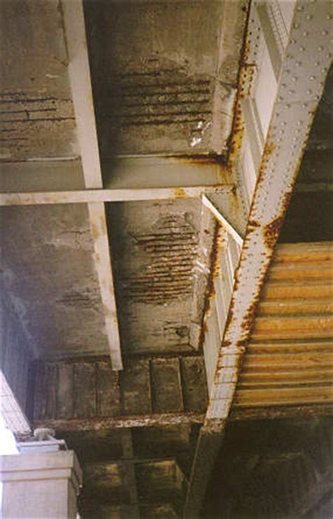 bridge deck bottom side delamination of bottom surface