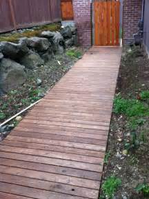 walkway ideas wooden walkway my home pinterest