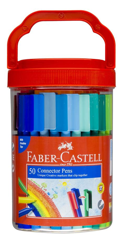 Faber Castell Conector Pen 60 Buku Mewarnai Colouring For Relaxation faber castell connector pen sets student markers the