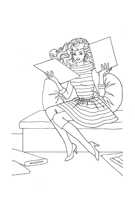 barbie coloring book pages pdf barbie fashion coloring pages coloring pages coloring home