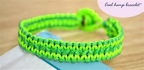 Cool Hemp Knots - how to finish a cool flat hemp bracelet in a fresh style
