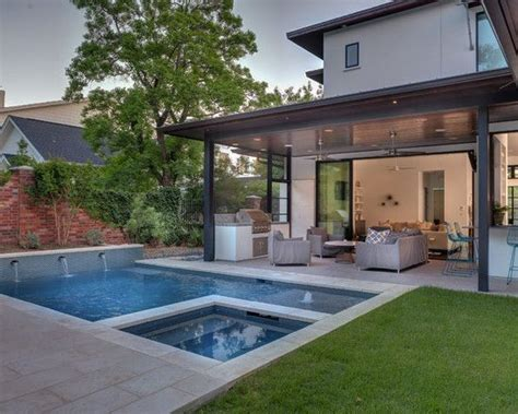 contemporary backyard landscaping ideas contemporary backyard open patio small pool pool small