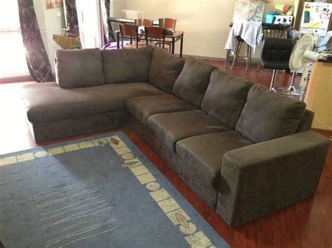 suede l shaped couch brown micro suede l shaped couch 300 kensington