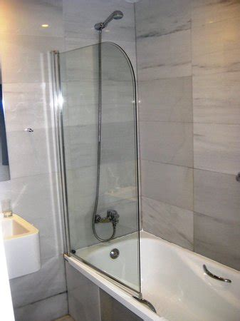 half bath with shower bathroom shower with half glass picture of exe ramblas
