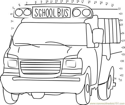printable school bus dot to dot school bus dot to dot printable worksheet connect the dots