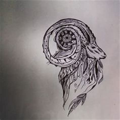 cartoon ram tattoo zentangle stylized cartoon goat ram ibex aries