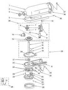 kitchenaid k45sswh parts list and diagram