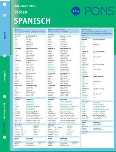 libro pons verben auf einen blick spanisch di