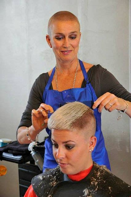 female in barber chair getting buzzcut 17 best images about barbered on pinterest bald fade