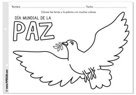 imagenes para colorear sobre la paz dibujos para pintar del d 237 a de la paz y la no violencia