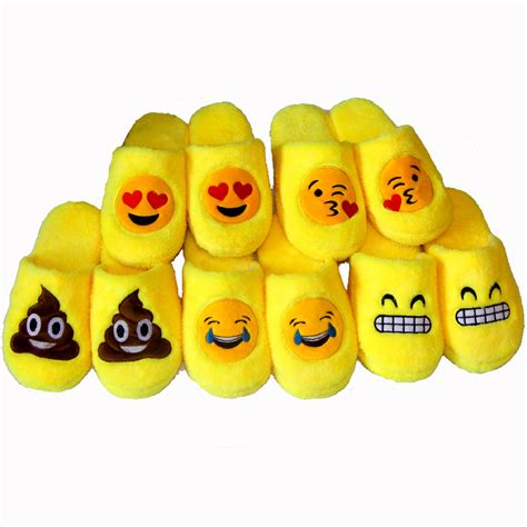 cute house slippers indoor warm emoji slippers cute house slippers smiley emoticon women mens zapatillas
