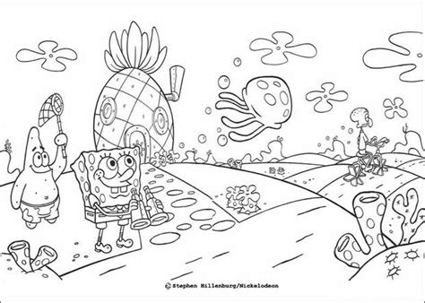 Sponge Bob And His Friends Coloring Pages Hellokids Com And His Friends Coloring Pages