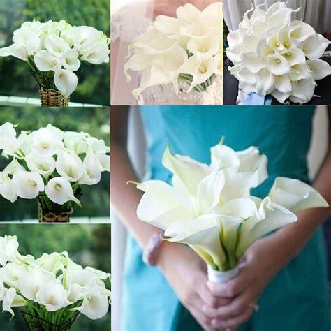 hot artificial calla lily wedding bridal bouquet fake