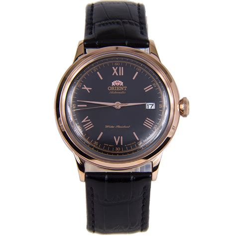 Alexandre Christie Ac 3030 Automatic Gold Black Leather Black Ori orient 2nd generation bambino automatic fac00006b0 ac00006b