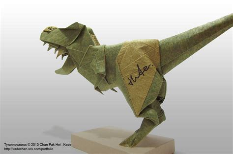 How To Make An Origami T Rex - origami t rex 摺紙霸王龍 kade chan