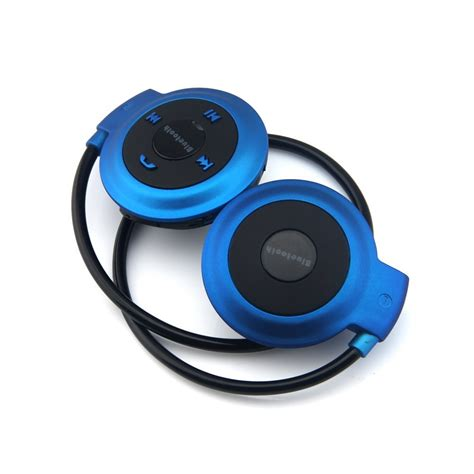 Jual Sport Wireless Bluetooth Headphone Dengan Mic Mini503 Blue sport wireless bluetooth headphone dengan mic mini503