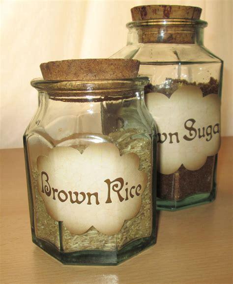 Pantry Jar Labels by Pantry Labels On Kitchen Storage Jars Rooftop Post