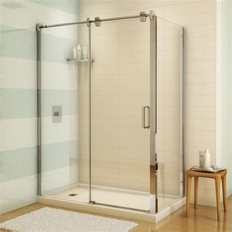fleurco sliding shower door glide 60quot sliding shower door