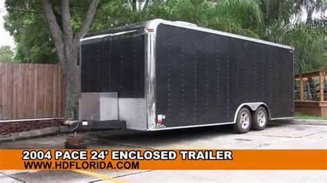 The 2004 Review And Trailer by Used 2004 Pace 24 Enclosed Trailer For Sale
