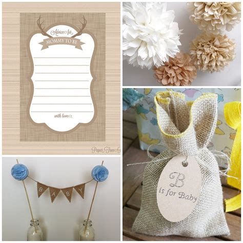 Baby Shower Burlap by Burlap Baby Shower Decorations Rustic Baby Chic