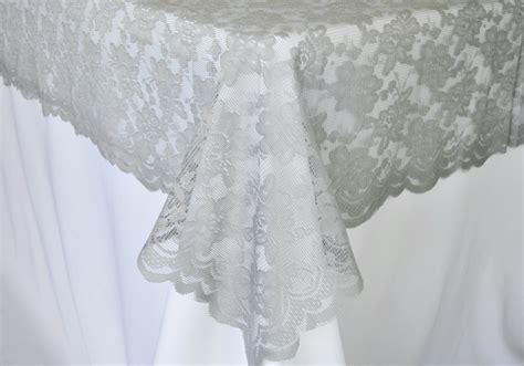 silver lace table overlay silver rectangle lace table overlays toppers wedding