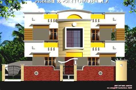 front view indian house plans house wall design small