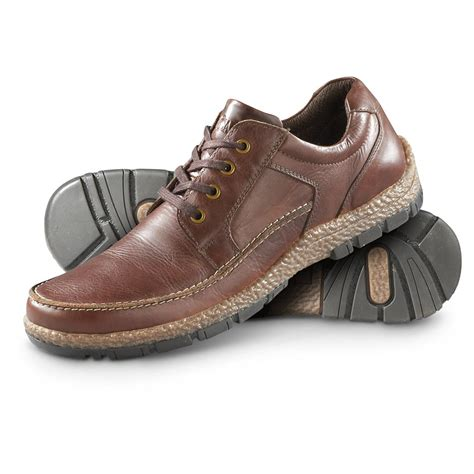guide gear s leather casual oxford moc toe shoes