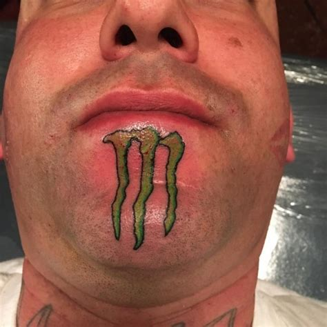 drink tattoo energy logo on chin best ideas gallery