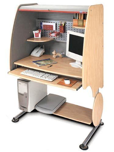 Leda Computer Desk by Leda Dl 01 Adjustable Series Roll Top Computer Desk Dl01
