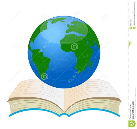 Book Of Earth planet earth on an open book stock vector illustration