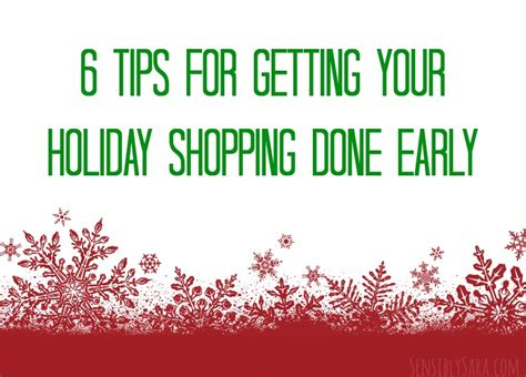Get An Early Start On Your Shopping by Tips For Getting A Start On Your Shopping